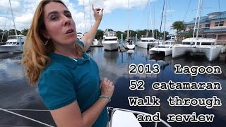 Lagoon 52 catamaran  2013  2014  walk through and review