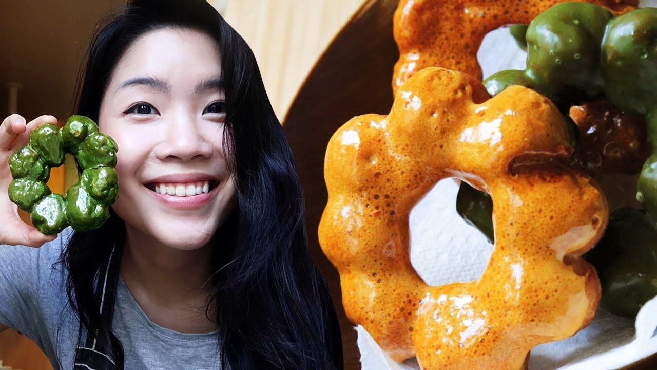 I Made Matcha & Dalgona Mochi Donuts From Scratch