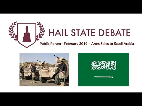 Public Forum - February 2019 - Arms Sales to Saudi Arabia