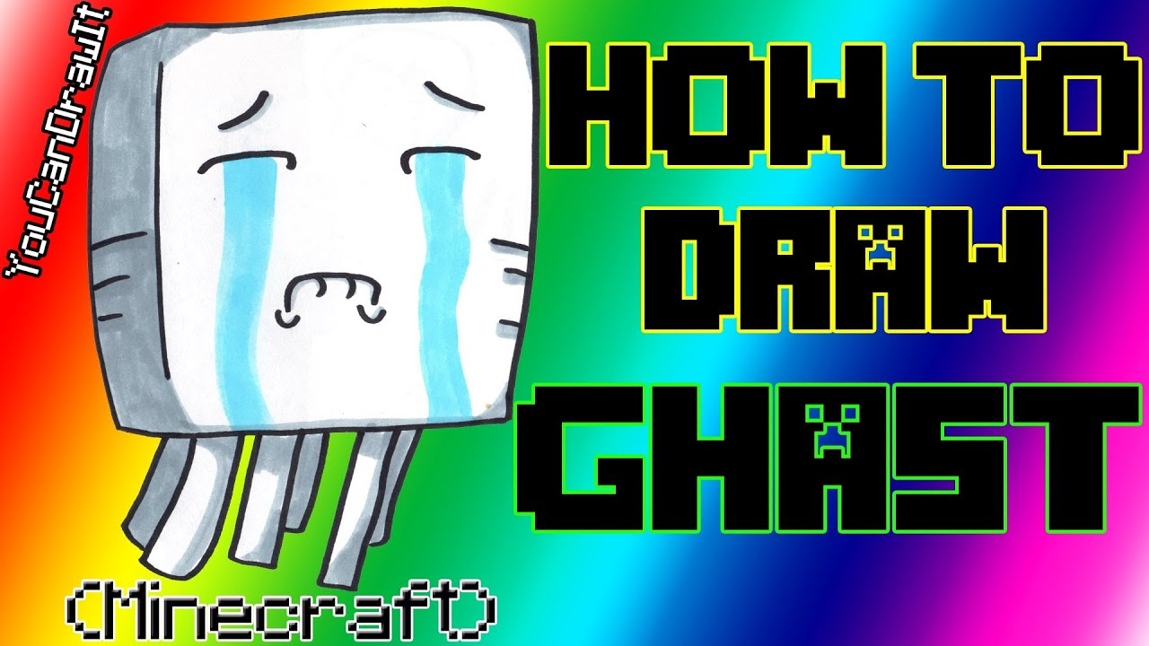 How To Draw Ghast From Minecraft ✎ YouCanDrawIt ツ 1080p HD   YouTube