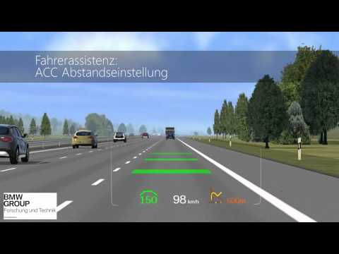 BMW Head Up Display HUD - Simulation Augmented Reality