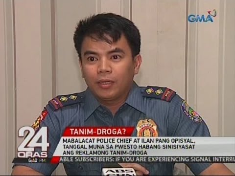 Mabalacat Police chief at ilan pa, tanggal muna sa pwesto ha
