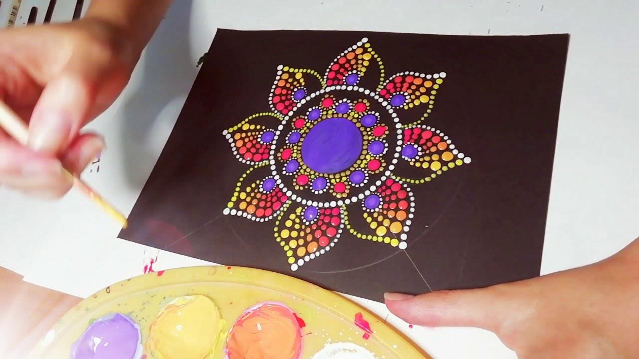 Dot painting mandala. Acrylic Painting.