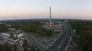 Wyburzanie komina - Łódź ul. Demokratyczna ᴴᴰ