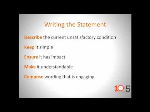 CONNSTEP's 10:5 - What is an Effective Problem Statement?