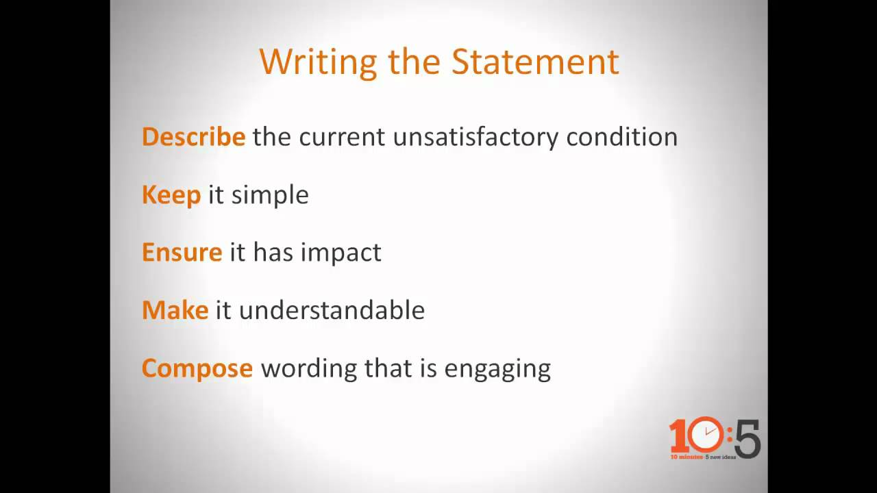 CONNSTEP's 10 5 What Is An Effective Problem Statement