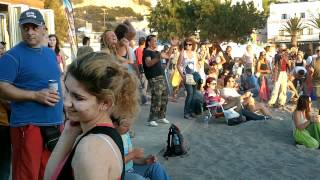 Matala Festival 2012 - people dancing on the beach