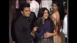 Ritesh with Pregnant wife Genilia bollywood's cutest couple at Arpita's reception