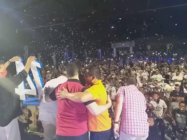 Multidão acompanha convenção de Nicson Marreira em Tefé, no Amazonas