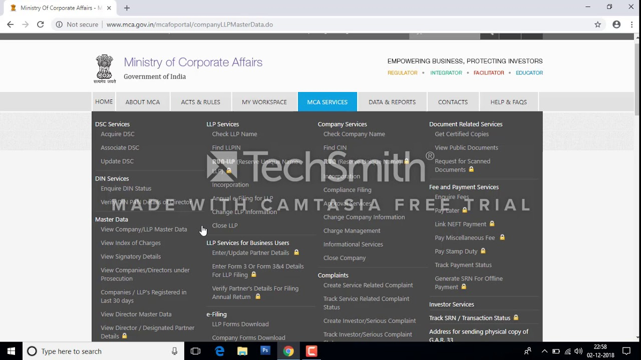 724e73044dcb Master data of company/ Index of charges/ List of Signatories