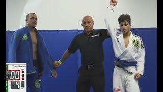 Juvenile Blue Belt Thalys Pontes Defeats Black Belt