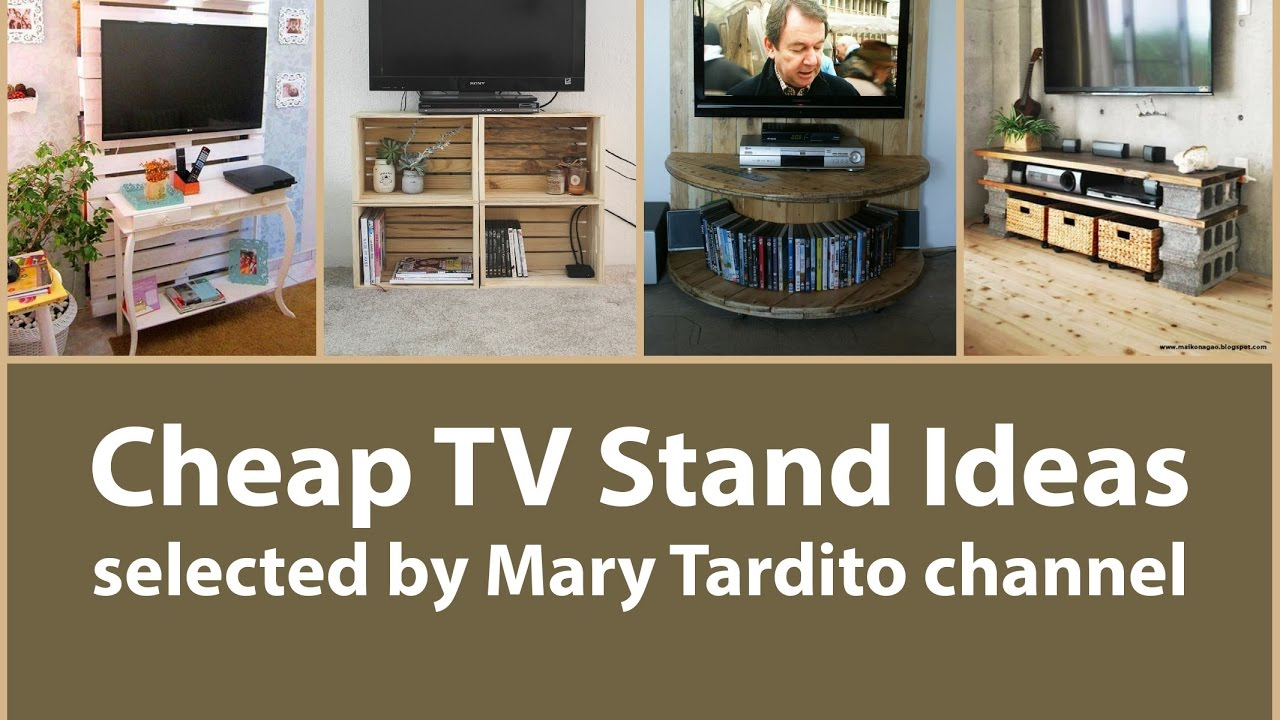 cheap tv stand ideas apartment decorating on a budget youtube. Black Bedroom Furniture Sets. Home Design Ideas