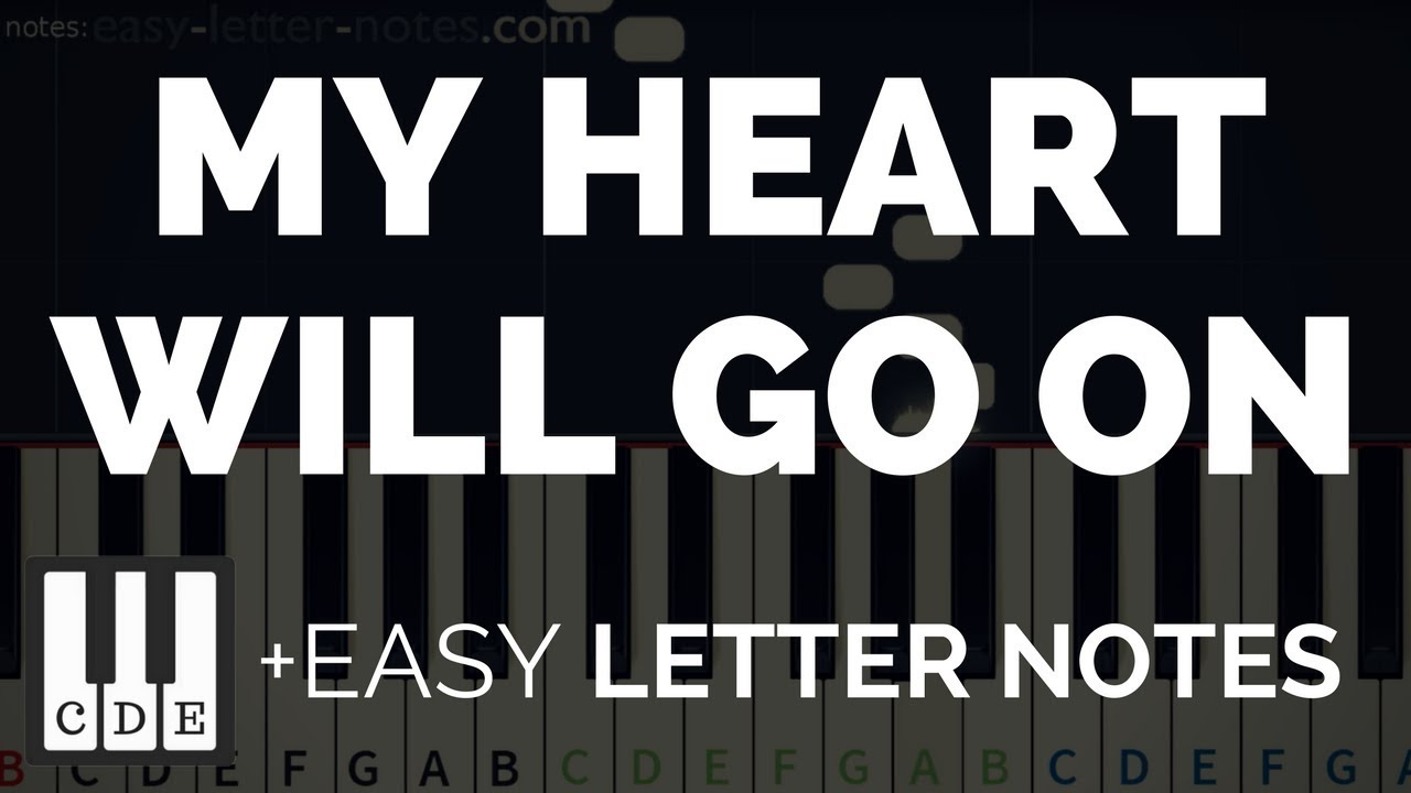 how to play my heart will go on easy piano song letter notes