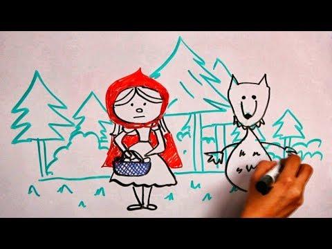 Красная шапочка и волк - сказки - детей