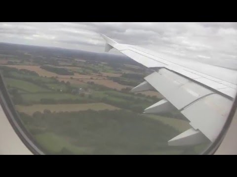 Emirates Airbus A380 Landing & Taxi at Manchester Airport, England - 9th September, 2015