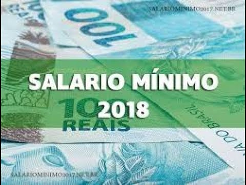Resultado de imagem para salario minimo 2018