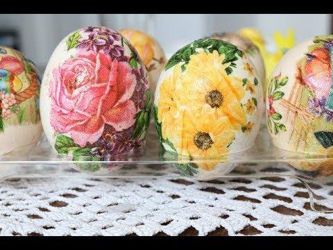 Bakina kuhinja - izbeljivanje i farbanje jaja dekupažom