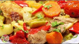 Баранья лопатка тушёная в овощах. Просто, вкусно, недорого.