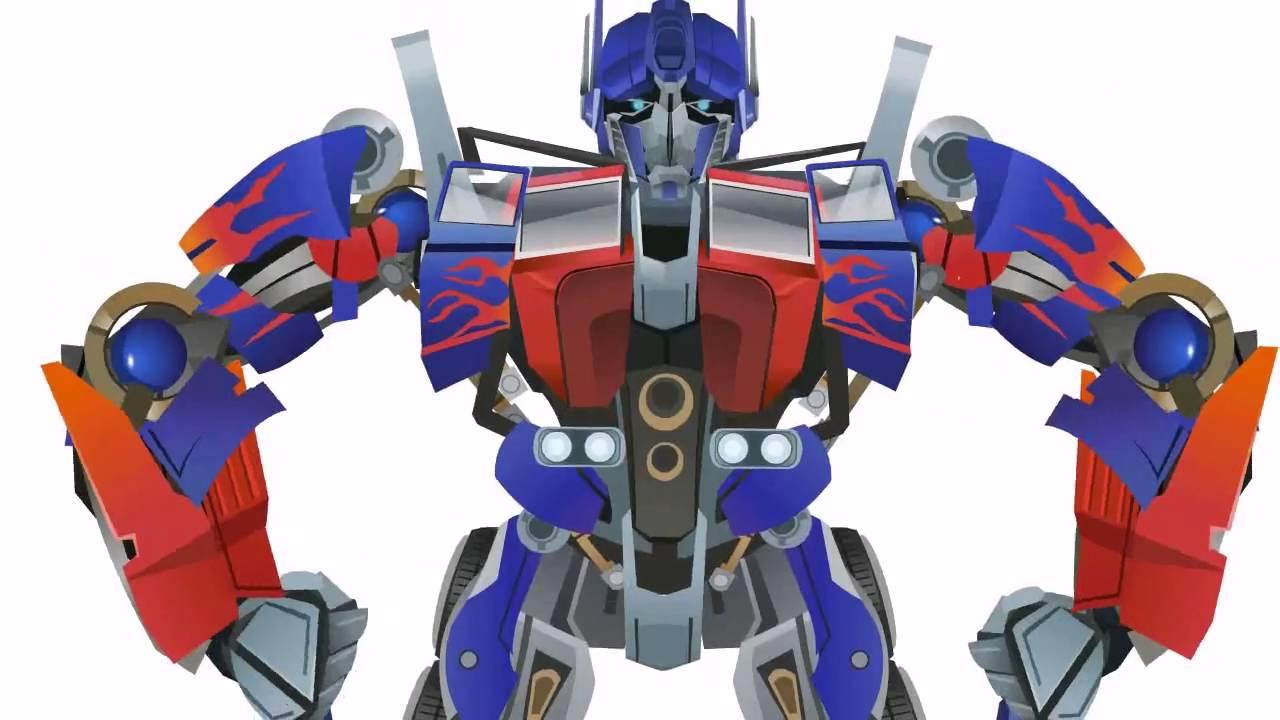 optimus prime transform - short flash transformers series - youtube