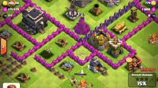 Clash Of Clans - EPIC Hog rider attack fail (Defense)