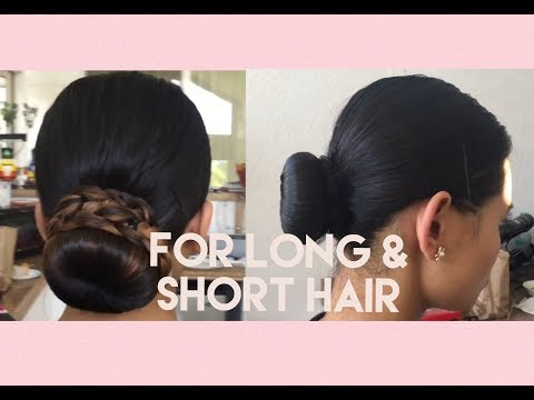 How To: ROTC/Military Bun (For Long & Short Hair)