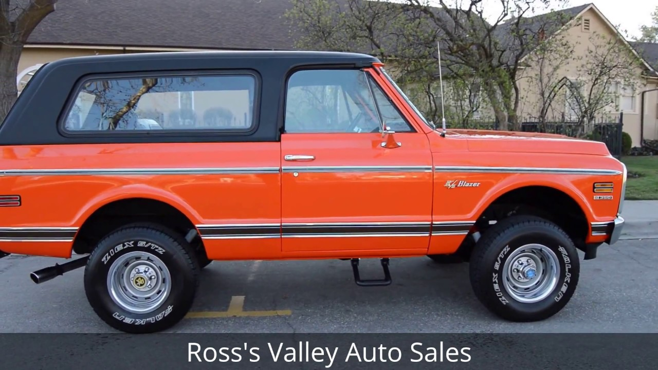 1972 Chevrolet K5 Blazer 4X4 - Ross\'s Valley Auto Sales - Boise ...