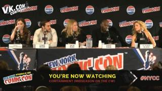 Claudia Black & Containment cast on ComicCon 2015