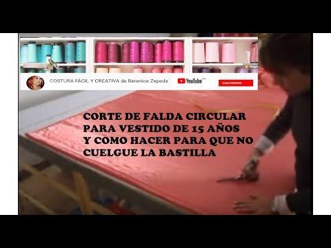 c347ed9b84 FALDA CIRCULO COMPLETO PARA XV AÑOS.parte 1 - YouTube