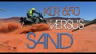 o#o How to Ride an Adventure Motorcycle (KLR 650) in Sand