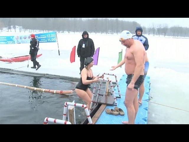 Belarus Ice Swimming