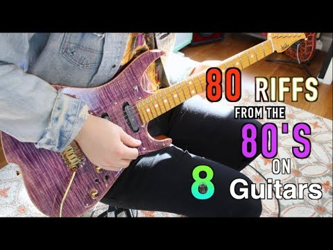 80 Sick Riffs From The 80's On 8 Guitars ( can you name them all?)