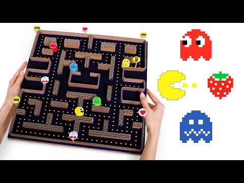 DIY PACMAN Game From Cardboard + Arcade Games Quiz!