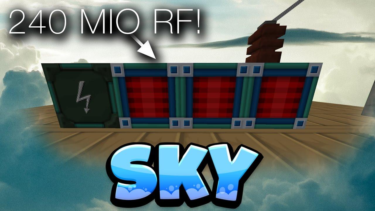 240MIO RF!! & WIRELESS CHARGER - SKY - 28 - Minecraft SkyBlock