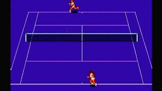 Chris Evert Ivan Lendl Top Players Tennis (1990) - NES