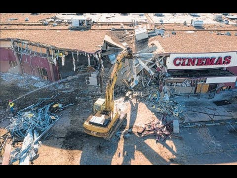 Demolition Of The Showcase Cinema In East Hartford Connecticut! R.I.P. Showcase CInema!