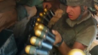 MK-19 Gunner Hammers Taliban Positions With Grenades
