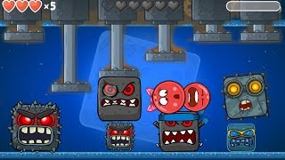 RED BALL 4 :  ALL 10 BOSSES Fight Together with \' GIRLFRIEND BALL & RED BALL \'