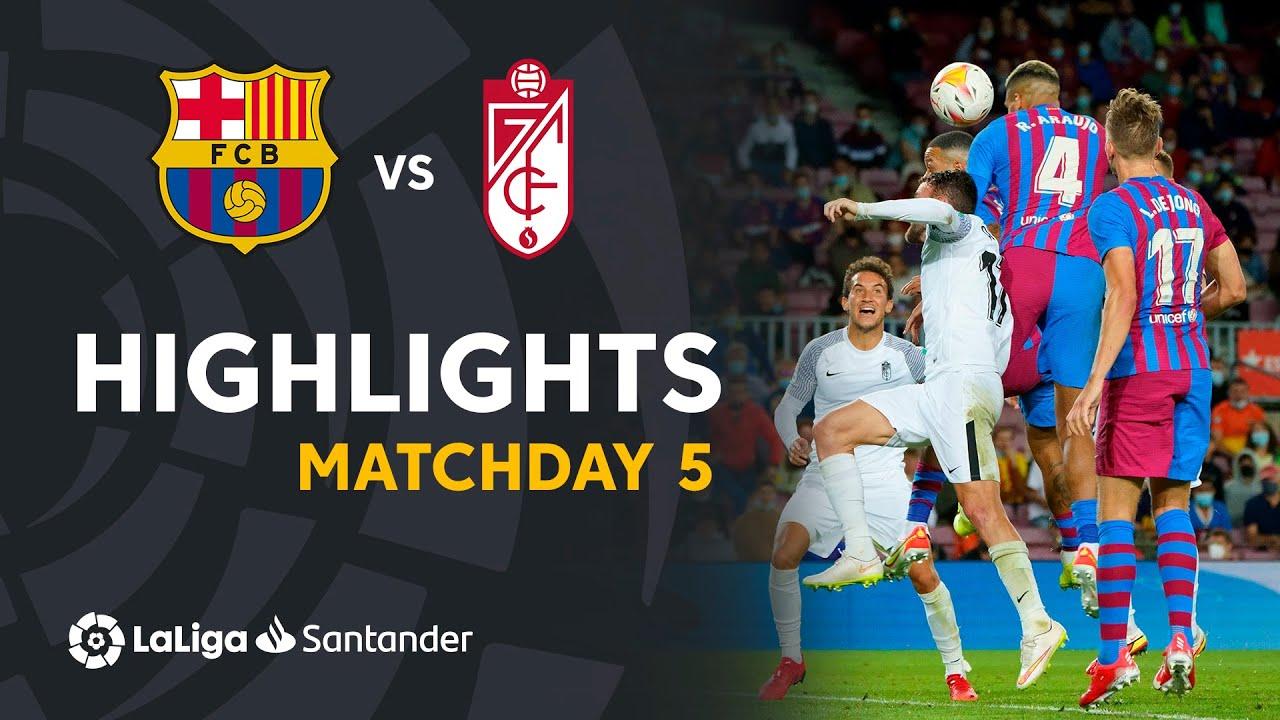 Highlights and goals: FC Barcelona 1-1 Granada CF in La Liga ...
