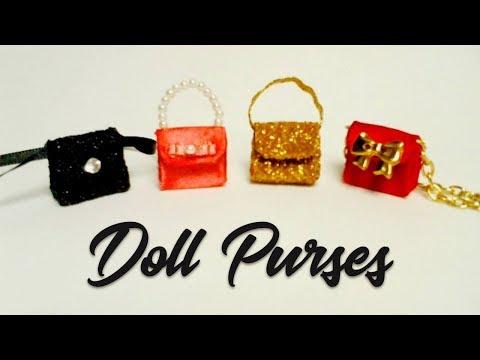 Miniature Purses / Bags / Bolsinhas p/ Barbie / Doll Tutorial