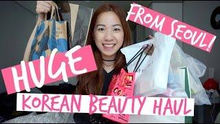 HUGE Seoul Korean Beauty Haul & mini review! (Innisfree, Missha, Etude House, Banila Co & More)