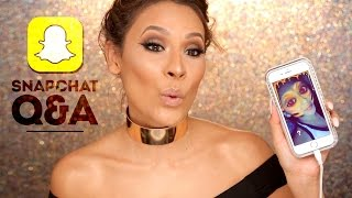 SNAPCHAT Q&A FAMILY, YOUTUBE AND MAKEUP