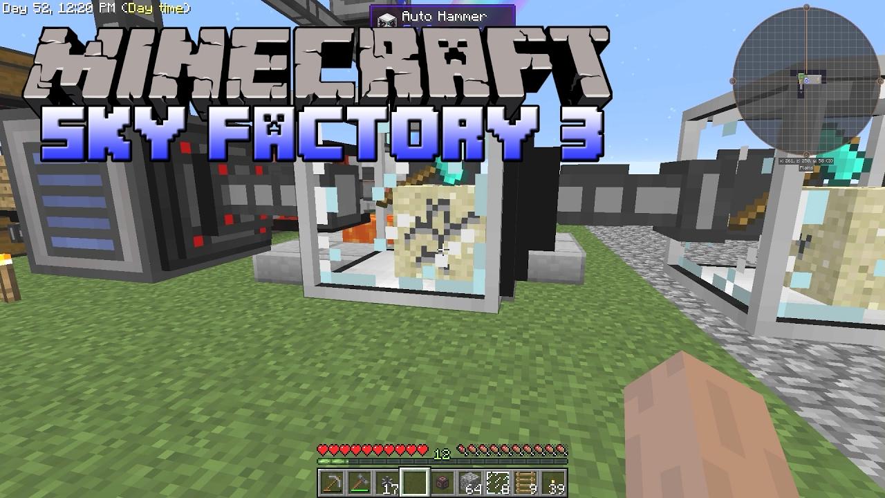SkyFactory 3 - The Lava Power Generator - Minecraft SkyFactory 3 Gameplay -  Part 6