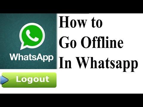Make whatsapp offline when you are Online