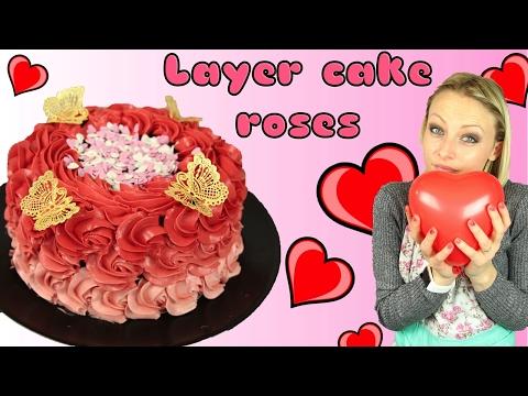 ♡• RECETTE SAINT VALENTIN LAYER CAKE ROSES | GATEAU RED VELVET •♡