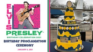 Elvis Presley Birthday Proclamation Ceremony (2021)