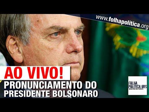 AO VIVO: PRONUNCIAMENTO DO PRESIDENTE BOLSONARO - LIVE DE 14/05 - EXAMES, MORO, REUNIÃO SIGILOSA