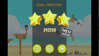 Angry Birds Rio 6-14 Beach Volley Final level theme 3 Star Walkthrough video gameplay Remix