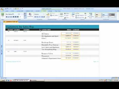 how to create report in ms access 2007