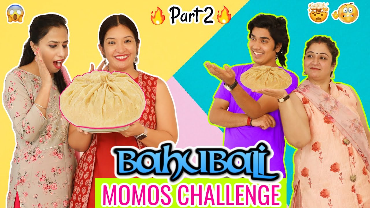 Baahubali MOMOS Challenge | Veg vs Paneer | CookWithNisha