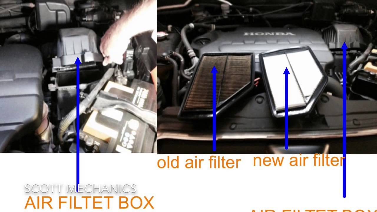Honda CR-V 2.2 diesel oil,air and fuel filter location - YouTubeYouTube